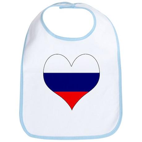 I Love Russia Bib