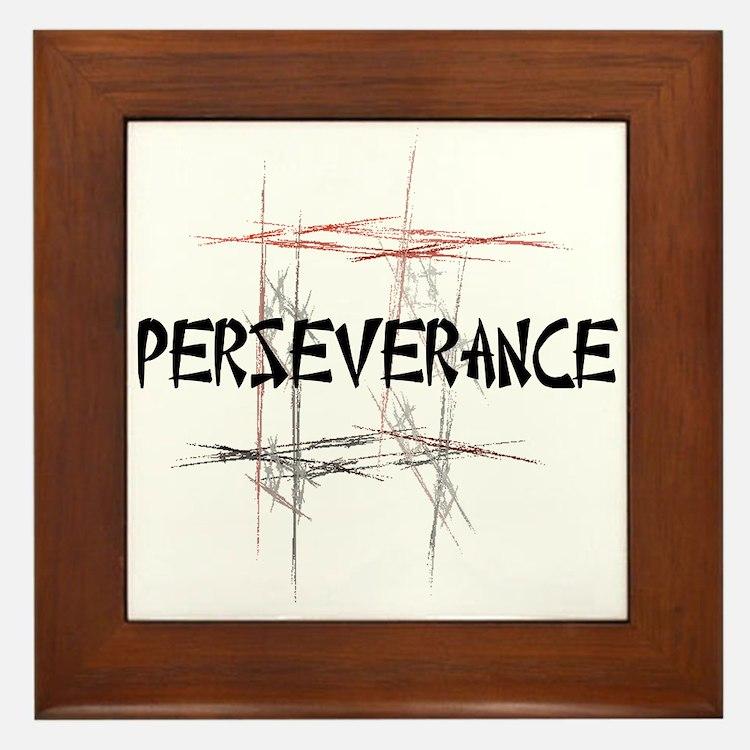Martial Arts Perseverance Framed Tile