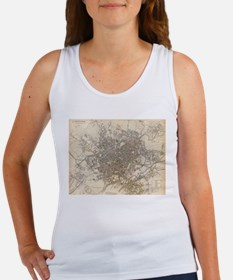 Vintage Map of Birmingham England (1839) Tank Top