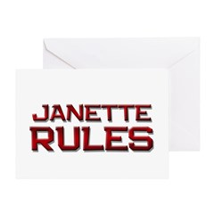 janette rules Greeting Card