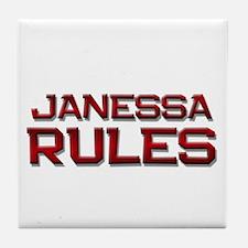 janessa rules Tile Coaster