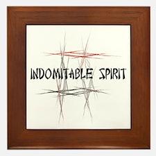 Martial Arts Indomitable Spirit Framed Tile