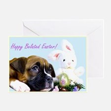 Happy Belated Easter boxer Greeting Card