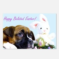 Happy Belated Easter boxer Postcards (Package of 8