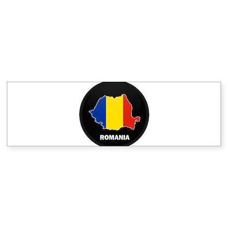 Flag Map of Romania Bumper Sticker