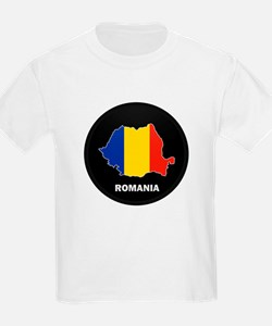 Flag Map of Romania T-Shirt
