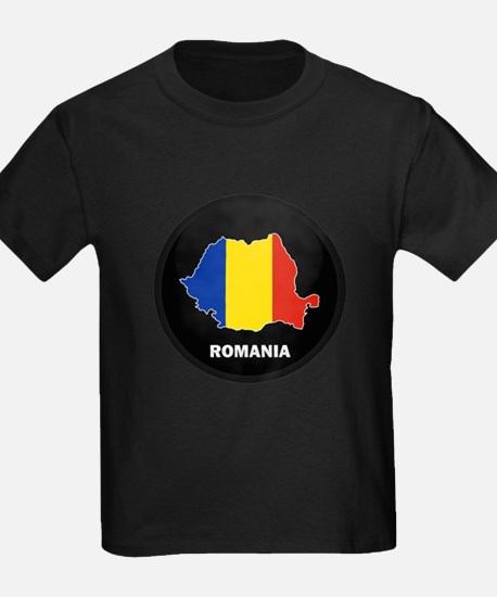 Flag Map of Romania T