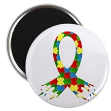 """Frayed Puzzle Ribbon 2.25"""" Magnet (100 pack)"""