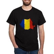 Romania Flag Map T-Shirt