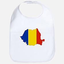Romania Flag Map Bib