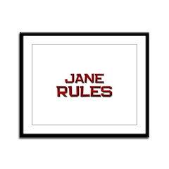 jane rules Framed Panel Print