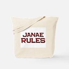 janae rules Tote Bag