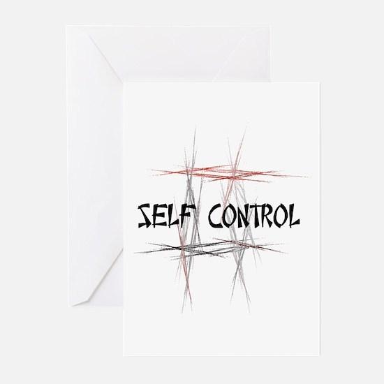 Martial Arts Self Control Greeting Cards 10PK