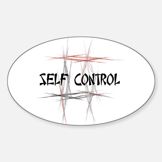 Martial Arts Self Control Oval Decal