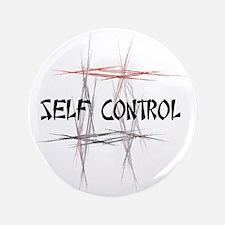 """Martial Arts Self Control 3.5"""" Button"""