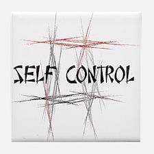 Martial Arts Self Control Tile Coaster