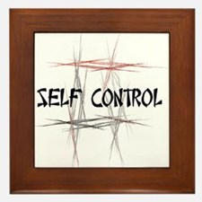 Martial Arts Self Control Framed Tile