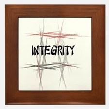 Martial Arts Integrity Framed Tile