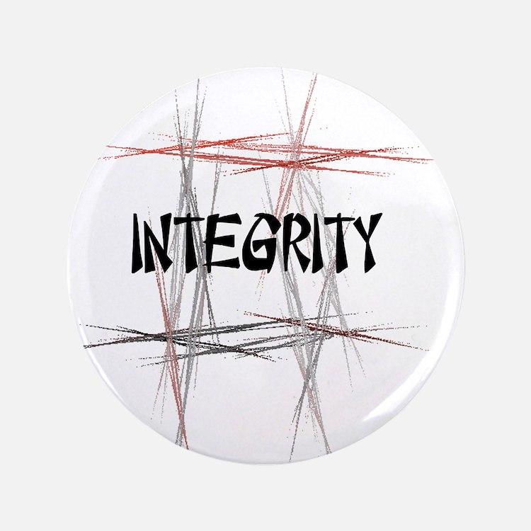 """Martial Arts Integrity 3.5"""" Button"""