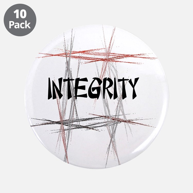"Martial Arts Integrity 3.5"" Button (10 pack)"