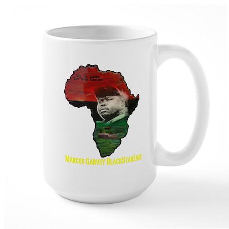 Marcus Garvey Black Starline Large Mug