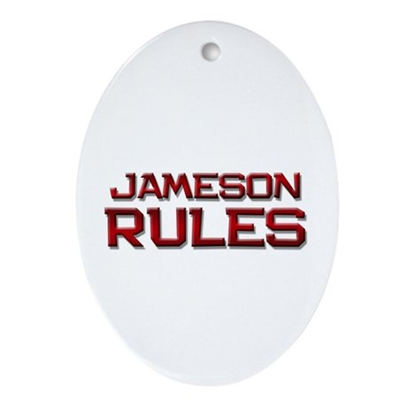 jameson rules Oval Ornament