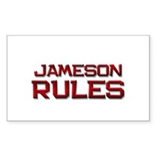 jameson rules Rectangle Decal
