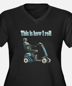 This Is How I Roll Women's Plus Size V-Neck Dark T