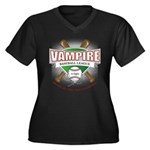 Twilight Vampire Baseball Women's Plus Size V-Neck