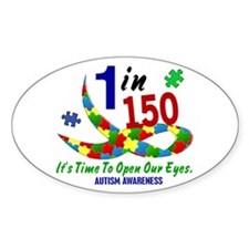 1 In 150 Time To Open Our Eyes Oval Decal