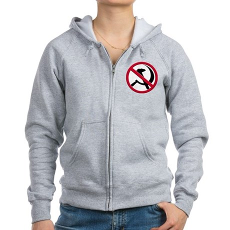 Anti-Communism Women's Zip Hoodie