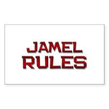 jamel rules Rectangle Decal