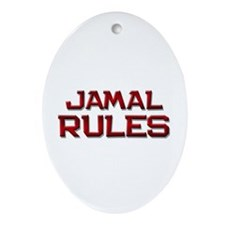 jamal rules Oval Ornament