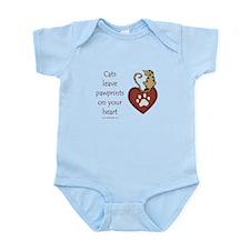 Cat Pawprints Infant Bodysuit