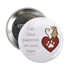 "Cat Pawprints 2.25"" Button (10 pack)"