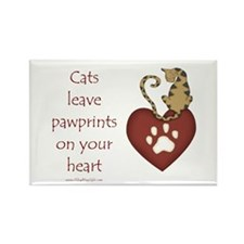 Cat Pawprints Rectangle Magnet