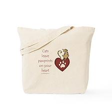 Cat Pawprints Tote Bag