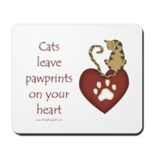 Cat Pawprints Mousepad