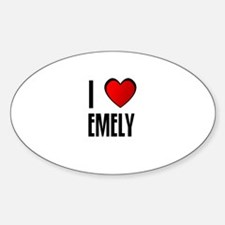 I LOVE EMELY Oval Decal