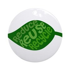 Reduce Reuse Recycle Ornament (Round)