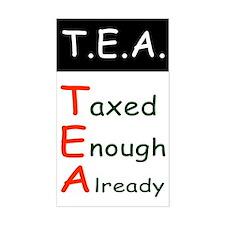 TEA Taxed Enough Already Bumper Decal