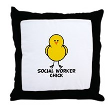 Social Worker Chick Throw Pillow
