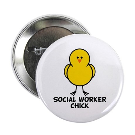"""Social Worker Chick 2.25"""" Button (10 pack)"""