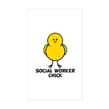 Social Worker Chick Rectangle Decal