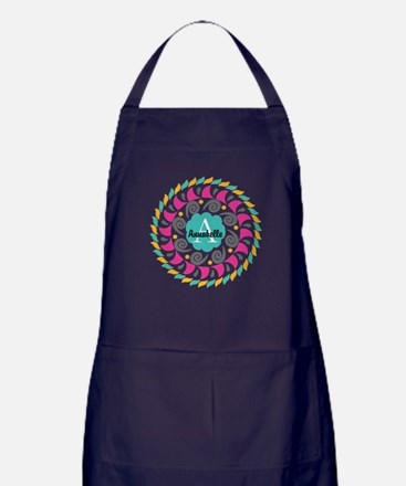 Personalized Monogrammed Gift Apron (dark)