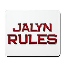 jalyn rules Mousepad