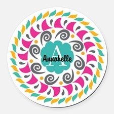 Personalized Monogrammed Gift Round Car Magnet