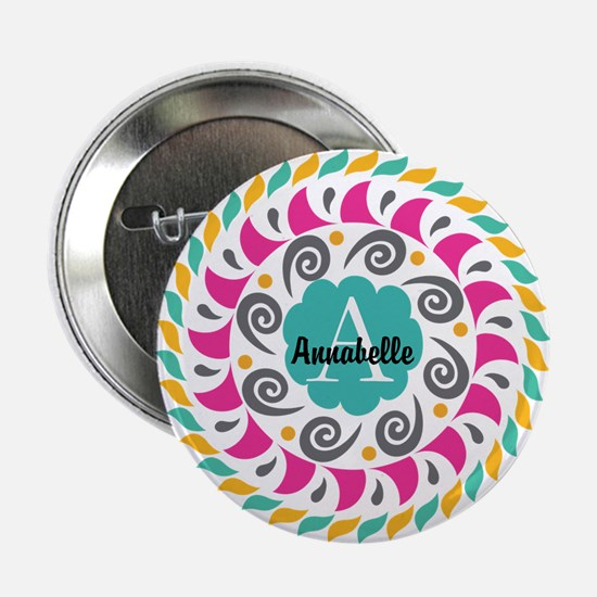 """Personalized Monogrammed Gift 2.25"""" Button"""