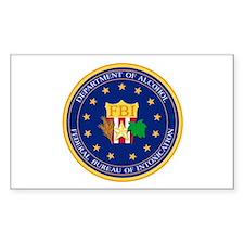 FBI Rectangle Bumper Stickers