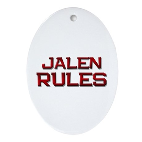 jalen rules Oval Ornament